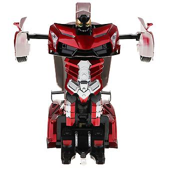 Magideal 1:12 scale 2-in-1 gesture sensing rc racing car transforming robot kids remote control toy birthday gift