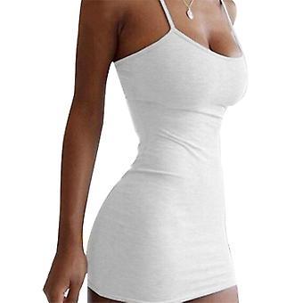 Frauen Spaghetti Strap Bodycon Mini Kleid Sexy Party Club Wear Sommer Kurzes Kleid
