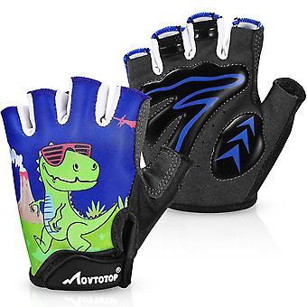 1 Pair Children's Riding Gloves Non-slip And Breathable Fingerless Gloves Kids Cycling Gloves Sport Gloves Half Finger Reduce Vibration Gloves For Gir