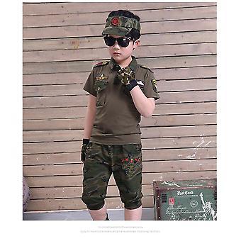 Vêtements d'entraînement militaire Minces Manches courtes vertes
