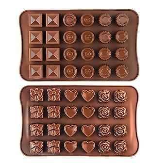 Silicone Chocolate Moulds 2pcs