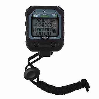 Allarme timer cronometro atletica professionistica digitale 3 file 100 giri 1/1000 secondo (nero)