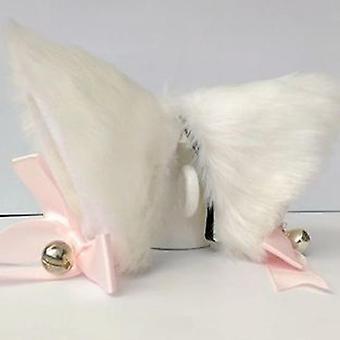 Solid Color Cute Imitation Animal Cat Long Fur Ears Shape Hair Clip