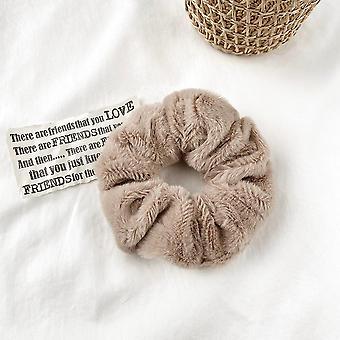 Frauen Pelzig Winter Soft Scrunchies Warm Elastisches Haarband