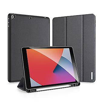 """Case For Ipad 7 10.2"""" 2019 Ultra Thin Smart Leather Cover Case With Pencil Holder & Auto Wake Up/sleep - Black"""