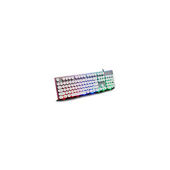 Retro Punk Round Suspension Keycaps 104 Keys Mechanical Keyboard USB Wired LOL CF RGB Backlight