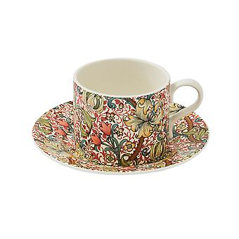 Morris and Co Tea Cup and Saucer, Golden Lily