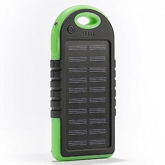 Solar Charger, 5000mah Portable Solar Power Bank Waterproof/shockproof/dustproof Dual Usb Battery