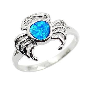 Opaal mooie krab patroon ring