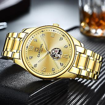 Hollow Inlaid With Rhinestones Automatic Mechanical Men's Watch