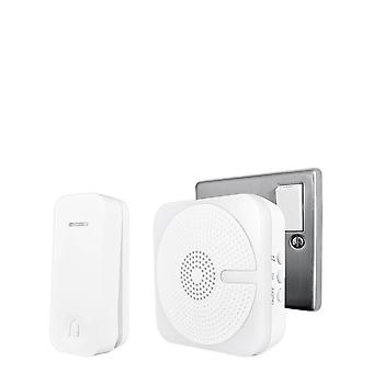 Uni-Com Uni-Com Plug-in Door Chime with Kinetic Bell Push, White, 66408