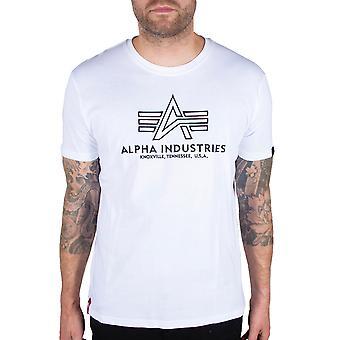Alpha Industries Mäns T-Shirt Grundläggande Broderi