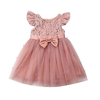 Toddler Kid Princess Dress- Lace Tulle Pageant Clothing Costume