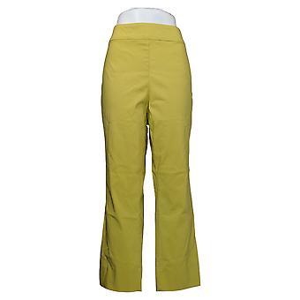 MarlaWynne Women's Plus Pants Twill FLATTERfit With Slit Green 646478