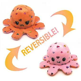 Christmas Cartoon Doll / Sequin Double-sided Flip Octopus Doll / Soft Plush Toy Reversible Octopus