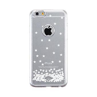 Apple iPhone 6 6S Transparent Scratch resistent telefon täcka (stjärnor mönster)