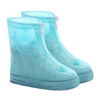 Boots Waterproof Shoe Cover Silicone Material Unisex Shoes Protectors Rain Boots Cover For Indoor Outdoor Rainy Thicker Non-slip