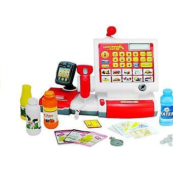 Spielzeugkasse - mit Spielgeld - und Zubehör - 33 cm