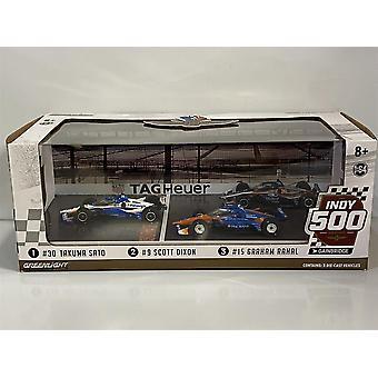 Indy 500 Podum Sato Dixon Rahal 3 Car Set 1:64 Greenlight 10885