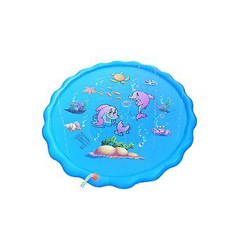 Kinder Wasserstrahlmatte, 170cm Wassersprühmatte Durable PVC Aufblasbare Sprinkler Splash Mat für Outdoor-Aktivitäten Sommer Kinder Must-Have Spielzeug