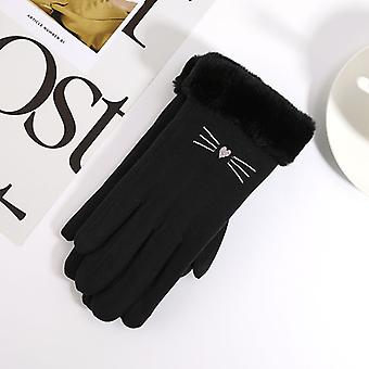 Winter New Stretch Knit Cute Cartoon Touch Screen Students Warm Gloves