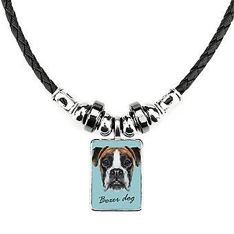 Lop-eard Boxer Dog Pet Animal náhrdelník