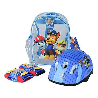 PAW PATROL Helmet Knee Pads Elbow Pads and Bag Protection Pack SMALL (OPAW004)