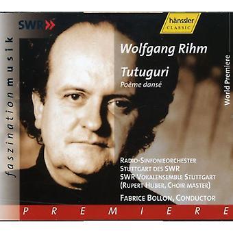 W. Rihm - Rihm: Tutugari [CD] USA import