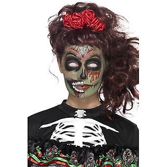 Day of the Dead Zombie Schmink Set 5-teilig Makeup Gesichtstattoos