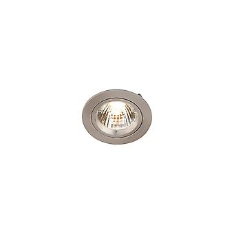 LED Robus Zak GU10 240V Twist & Lock Downlight, Brushed Chrome