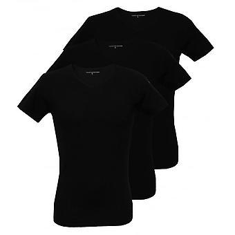 טומי הילפיגר 3-Pack פרימיום הפרמיה V-חולצת טריקו, שחור