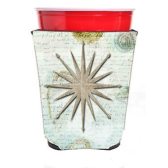 Shells Navagation Star Red Solo Cup Beverage Insulator Hugger