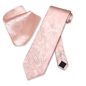 Vesuvio Napoli PAISLEY NeckTie & Handkerchief Matching Men's Neck Tie Set
