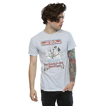Disney Herren 101 Dalmatiner Retro Poster T-Shirt