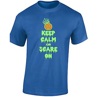 Keep Calm And Scare On Glow In The Dark Costume Fancy Dress Halloween Kids Unisex T-Shirt 8 Colours (XS-XL) by swagwear