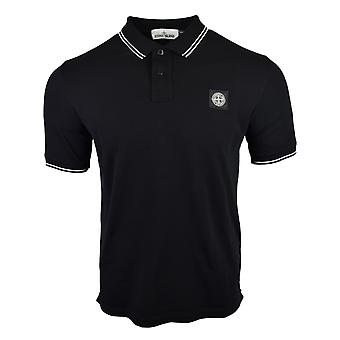 Stone Island SS18 Classic Slim Fit chemise Polo noire