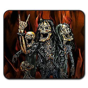Skeleton Rock Band antislip-muismat Pad 24 x 20 cm | Wellcoda