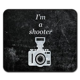 Photographer Cool  Non-Slip Mouse Mat Pad 24cm x 20cm | Wellcoda