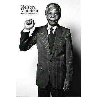 Nelson Mandela - Salute affiche Poster Print