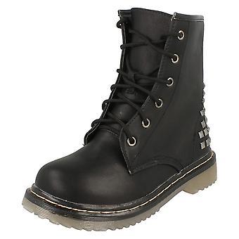 Spot sur talons bas dentelle Boot / carré talon cloutés H5018