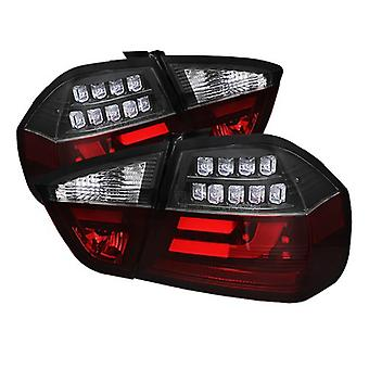 Spyder Auto (ALT-YD-BE9006-LBLED-G2-BK) BMW 3 Series E90 4-Door Black Light Bar Style LED Tail Light with Indicator - Pa