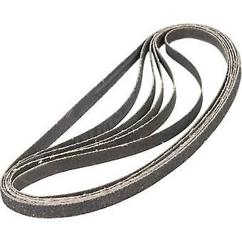 Ferm EFA1003 Sandpaper belt set Grit size 40, 80, 120 (L x W) 455 mm x 10 mm 1 Set