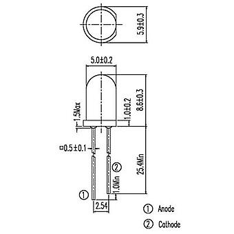 Everlight Opto IR 333 IR-zender 940 nm 20 ° 5 mm Radiaal lood