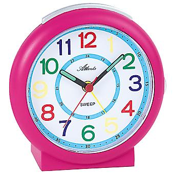 Atlanta 1917/8 alarm clock kids alarm clock pink quartz alarm clock children girls