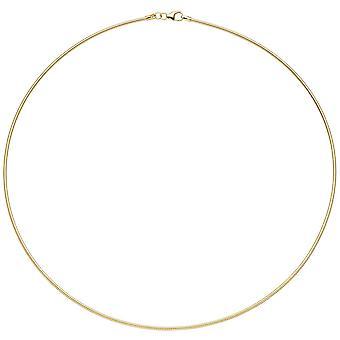 Halskjede 925 sterling sølv gull gull belagt 1,5 mm 50 cm kjede kjede