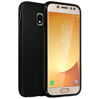 Custodia in silicone + cover posteriore in policarbonato per il Samsung Galaxy J5 2017 - nero