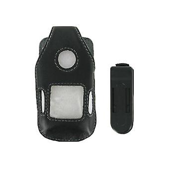 5 Pack-soluções sem fio cinto capa de couro clip para Sony Ericsson Z710, W710 (preto)