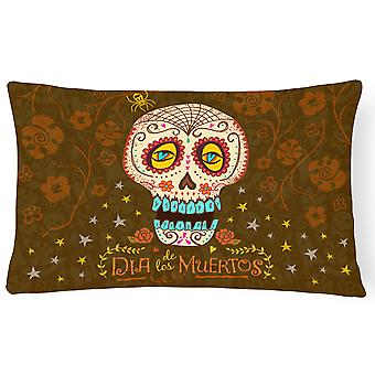 Day of the Dead Canvas Fabric Decorative Pillow
