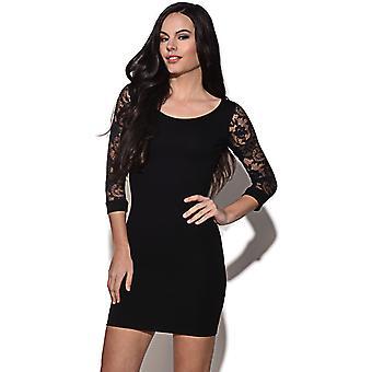 Quontum Black Lace 3/4 Sleeve Dress