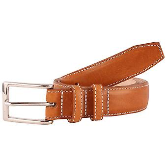 Bassin and Brown Leather Belt - Tan